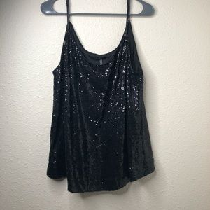 Soprano Sequined Top with Adjustable Strap Sz 2XL